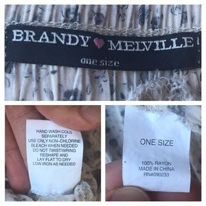 Brandy Melville Skirts - Brandy Melville Floral Heather Skirt